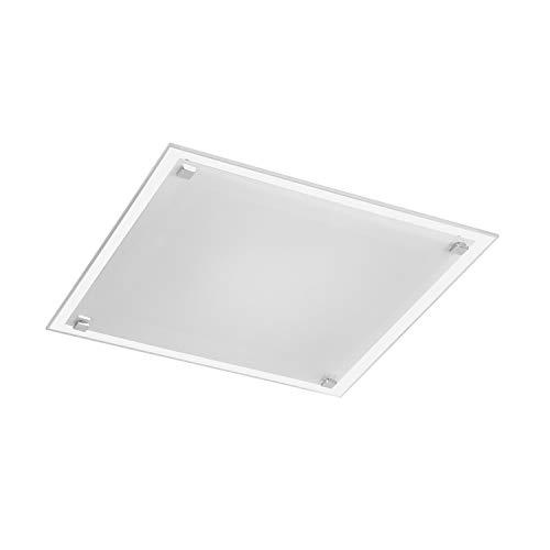 Sulion Plafón Cuadrado Básico 2XE27 Cristal 30x30x7cm