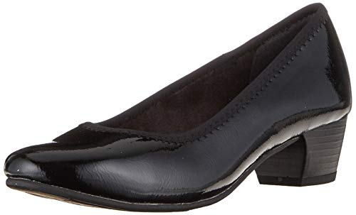 Jana Softline Damen 8-8-22360-23 Pumps, Schwarz (Black PATENT 018), 39 EU