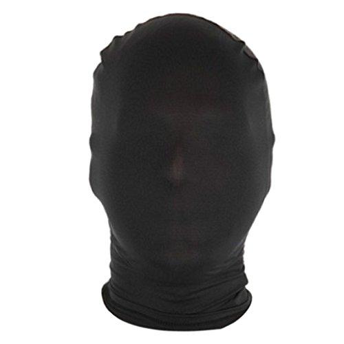 Baoblaze Spandex Stoff Maske Kopfmaske aus Stretchstoff Kopf Maske Zentai Maske Morphmaske für Herren Damen - Schwarz