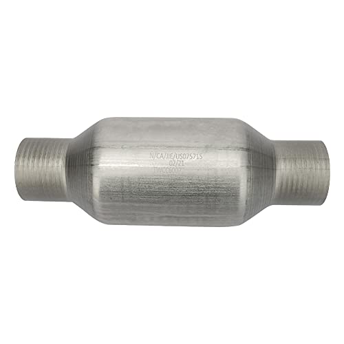 MAYASAF 2.25' Inlet/Outlet Universal Catalytic Converter, High Flow Exhaust...