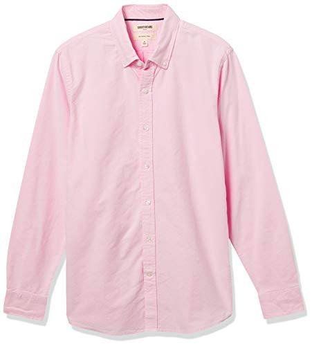 Goodthreads Slim-Fit Long-Sleeve Solid Oxford Shirt Chemise, Rose (Pink), Small