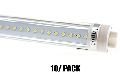 FiveStar Lights T8 4Ft LED Light Tube 20W(60W equivalent), 6000K Daylight, Dual-ended PowerETL Listed, 2300 Lumen Energy Saving Fluorescent Tube Replacement, Ballast Compatible