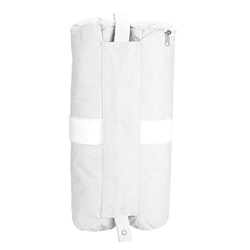 SALUTUYA Bolsa de Arena de Doble Costura Lightweigt Bolsas de Anclaje de Arena Lavables duraderas Plegables para Exteriores para Tiendas de campaña(White)