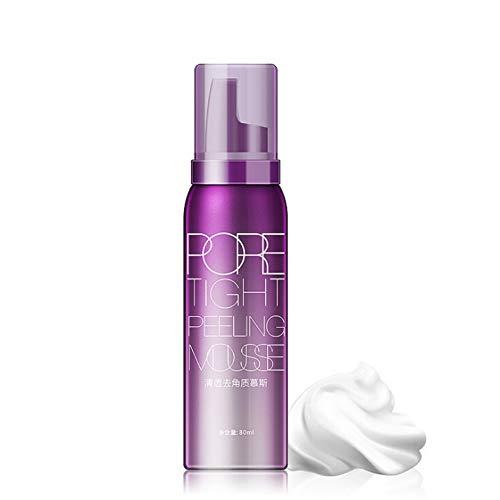 BOSIXTY Mousse exfoliante, Gel exfoliant pour le visage pour éliminer le contrôle de l'huile de peau morte rétrécir les pores