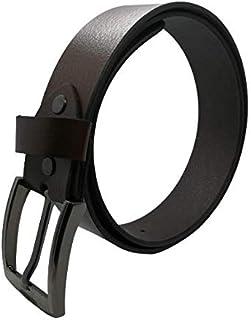 Men's Belt, Classic Dress Belt Top Bulliant Leather Dress Belt with Single Prong Buckle