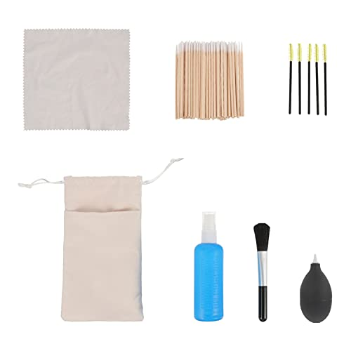 MILISTEN Kit de Limpieza para Auriculares Cepillos para El Polvo Paño de Microfibra Hisopos de Limpieza Herramientas de Limpieza para Smartphones Cámaras Teclados Auriculares Tabletas