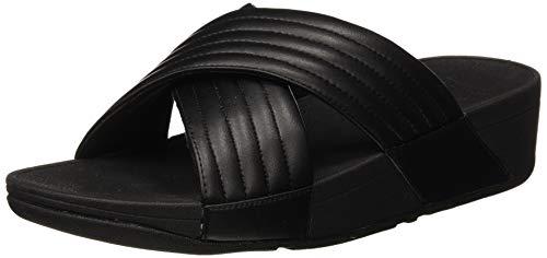 Price comparison product image FitFlop Women's LULU Padded Slide Sandal,  Black,  6 M US
