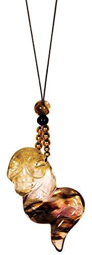 Dakini Designs Tibetan/Tantric Meditation Necklace/Golden Fire Quartz/Skull/Naga Land Tibet Sacred Stones Amule
