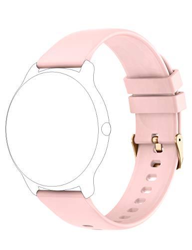 YAMAY Smartwatch Cinturino di Ricambio Accessorio per Smart Watch YM022 / SW022 / KW66 (Nero/Rosa/Verde/Grigio)