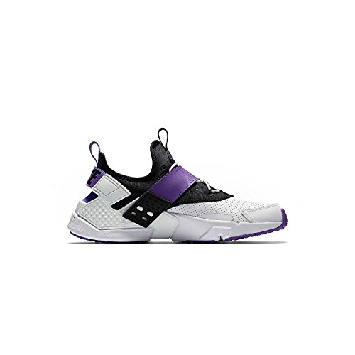 Nike Mens air Huarache Drift PRM Leather Low, White/Purple/Black, Size 9.0