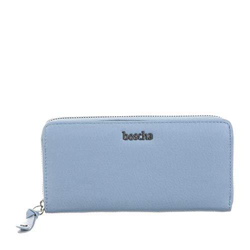 Boscha Damen Geldbörse Geldbeutel Portemonnaie Denim Blau