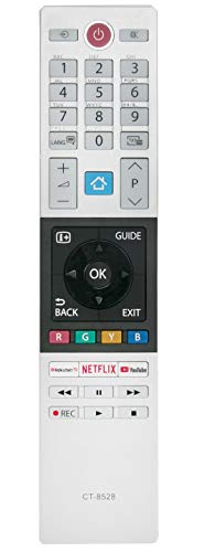 ALLIMITY CT-8528 Mando a Distancia reemplazado por Toshiba UHD XUHD TV with Rokuten Netflix Youtube Buttons