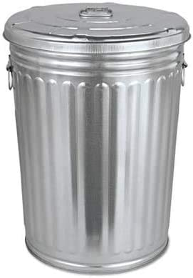 COLIBROX Outlet SALE Pre-Galvanized Trash Can with Lid 20gal Milwaukee Mall Round Steel