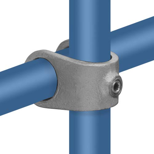 Rohrverbinder Kreuzstück Offen - Ø 33,7 mm Temperguss thermisch vollbadverzinkt inkl. Stellschrauben