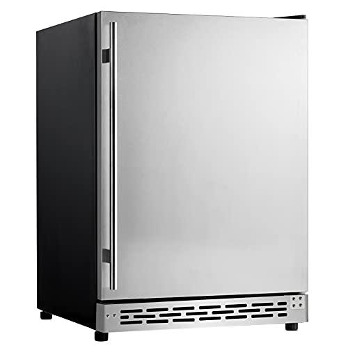 Advanics Outdoor/Indoor 24 Inch Wide Built In Beverage Refrigerator and Cooler, 5.8 cu.ft. Under...