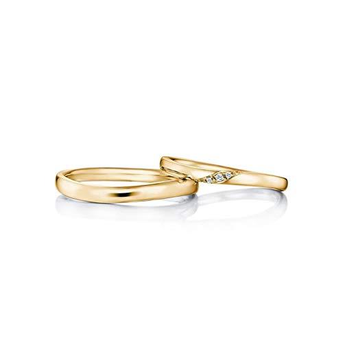AnazoZ bijpassende ringen voor vrouwen mannen 18 K goud diamant 0,04 ct verloving ringen Band Set