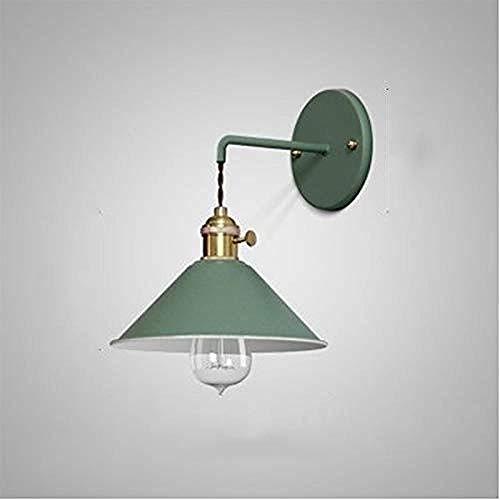 Lámpara Hermosa lámpara de pared color E27 bombilla colorida luz de noche elegir muebles decoración lámpara @Verde