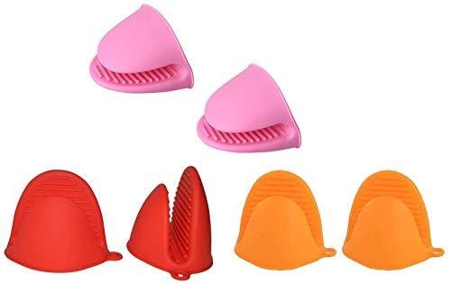 Mini manopla de silicona para horno de 6 piezas, guantes aislantes para horno de microondas de sílice de cocina, manoplas de cocina, empuñaduras resistentes al calor, para herramientas de cocina