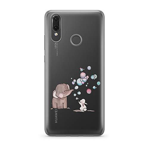 Finoo hoes voor Huawei P20 Lite - telefoonhoes met motief en optimale bescherming tas, case, hardcase, cover, beschermhoes, olifant, haas, zeepbellen