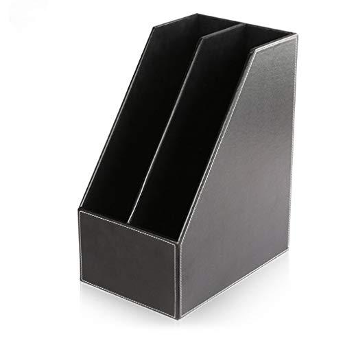 Bibliotega File Magazine Holder Cardboard Magazine Book Rack Lever Arch File Folder Divider Document Stationery Storage Box, Black