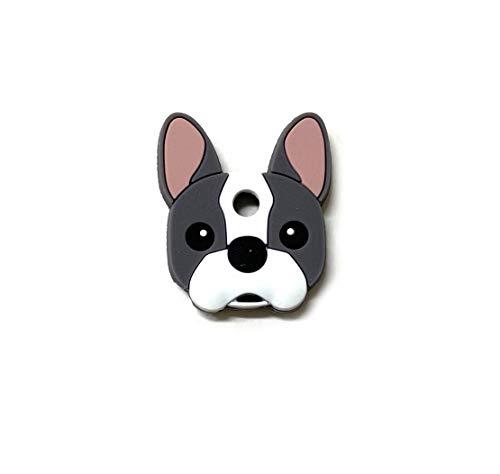 Key Cover/Key Caps/Key Holder/Keycaps - Cute Animal Pet Faces (French Bulldog)
