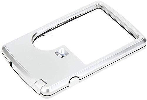 Bolsillo – pequeña lupa portátil iluminada ideal para leer, el secreto de guardar la vista leyendo pequeña impresión en movimiento.