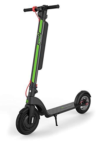 Green Moovy Monopattino Elettrico X8 Motore 350W velocità 25 km/h Ruote pneumatiche 10' Nero con Freno E-ABS e Batteria Removibile per Ricarica Veloce Autonomia Max 45...