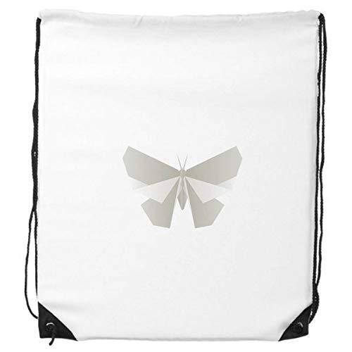 DIYthinker Abstrakte weißer Schmetterling Origami Muster-Rucksack-Shopping Sport Taschen Geschenk