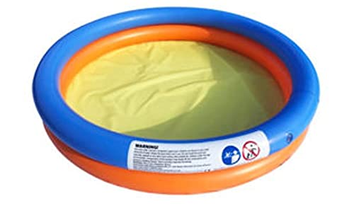 2-Rings Round Pool - 40ltrs Water Capacity, Fun Size Inflatable Paddling Pool for Babies, Toddlers or Pets this Summer - Outdoor Activities, Sandbox, Ball Pit and Splash Swim (2yrs +)