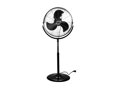 PEREL - CFANFS45N Staande ventilator, metaal, 45 cm diameter ventilator, 110 cm-130 cm instelbaar hoogte, 220-240 VAC, 50 Hz, 45W 176433