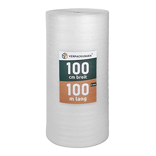 BB-Verpackungen 100 m² Trittschalldämmung (2 mm stark, sehr gute Schall- und Wärmedämmung) - Sets zwischen 50 m² und 500 m²