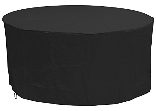 Oxbridge Black Large Round Outdoor Garden Patio Furniture Set Cover 2.27m x 1m/7.4ft x 3.25ft 5 YEAR GUARANTEE