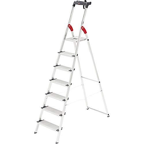 Preisvergleich Produktbild Hailo ProfiLine S150 XXL Alu-Stufenstehleiter (7 XXL-Stufen,  Plattform-Verriegelung,  belastbar bis 150 kg,  Ablageschale) 8817-027