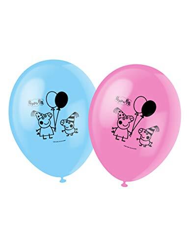 Generique - 6 Bedruckte Ballons Peppa Wutz