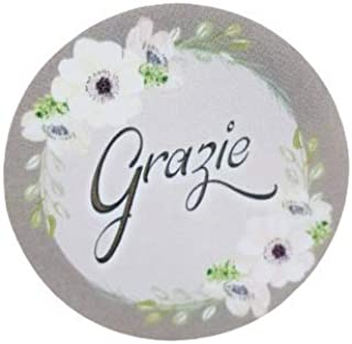20 pezzi Adesivi Tondi Stampati, 40 millimetri, etichette matrimonio, battesimo, thank you stickers, grazie, comunione, cr...