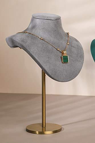 GemeShou Moderno soporte para collar de terciopelo gris para fotografía