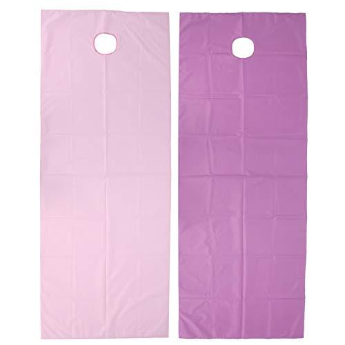 2 piezas de sábanas de salón de belleza - Funda de cama para mesa de masaje SPA Funda impermeable para mesa de masaje Funda de cama para mesa de masaje resistente al agua con orificio para(01)