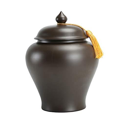 UCYG Dosen Einmachglas Kaffeedose Luftdicht Geschirr Keramik mit Deckel, Vorratsdosen Aufbewahrungsbox Küche Behälter Müsli Große für Tee Kaffee Gewürz, 2L, 3,2L, 7L (Size : 2L)