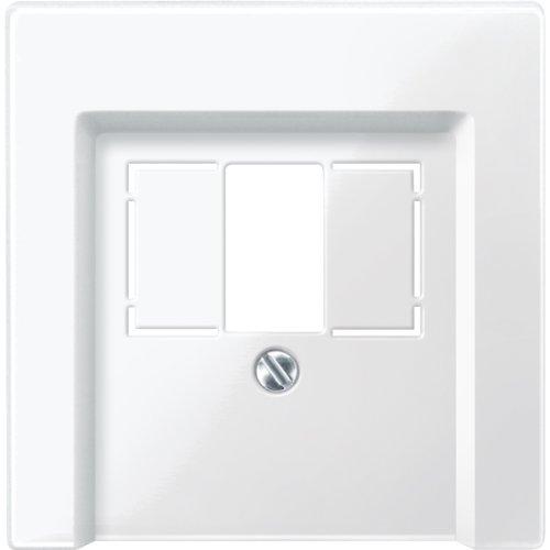 Merten 296019 Zentralplatte für TAE/Audio/USB, polarweiß glänzend, System M
