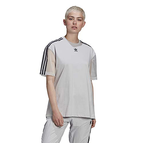 adidas T-Shirt, Light Solid Grey, 32 Womens