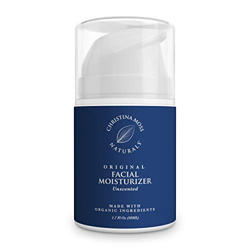 Facial Moisturizer - Made With Organic Aloe Vera to Hydrate & Nourish - Face Moisturizing Cream for Sensitive, Oily or Severely Dry Skin - Anti-Aging, Anti-Wrinkle - For Women & Men. Christina Moss Naturals (Unscented)