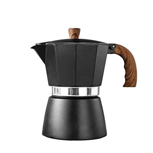 Espressokocher Induktion | Mokkakanne Espressokanne 3/6 Tassen | Camping Espresso Maker Kaffeekocher aus Aluminium