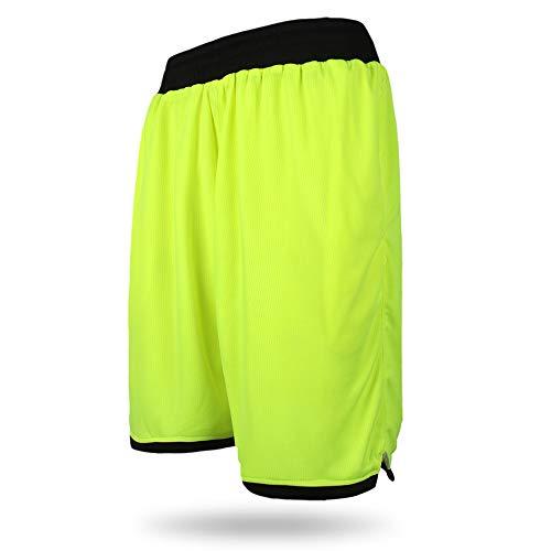 Loose Big Plus Size XL-7XL New Professional Basketballer Shorts Jerseys 2018 Men Short Trousers Runningg for Shorts Men Fluorescent Green XXL