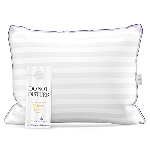 """Queen Size Pillow for Sleeping, Side Sleeper Pillow for Neck and Shoulder Pain, Allergy Free Hypoallergenic Synthetic Down Alternative Used in Luxury Hotels (Queen Soft 20"""" x 30"""")"""