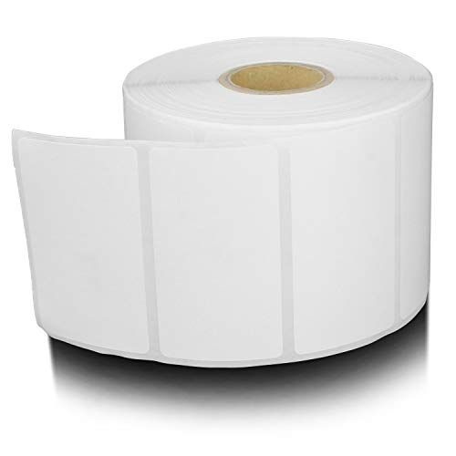OfficeSmart Labels ZR1214114 - 2.25 x 1.25 Inch Removable Direct Thermal Labels / Compatible with Zebra Printers (4 Rolls, White, 1000 Labels Per Roll, 1 inch Core)