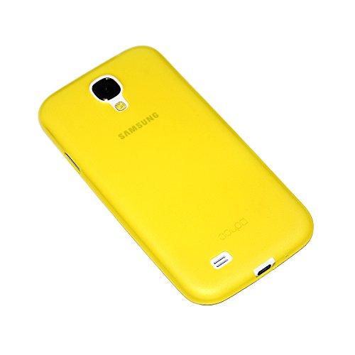 doupi UltraSlim Custodia per Samsung Galaxy S4, Satinato fine Piuma Facile Mat Semi Trasparente Cover, Giallo