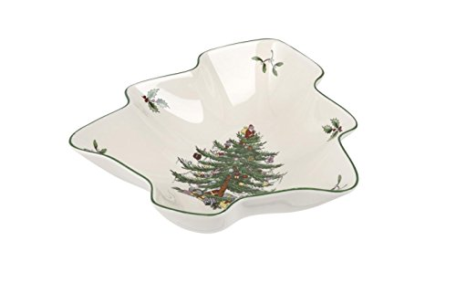 Spode Christmas Tree Dish, Multicolor