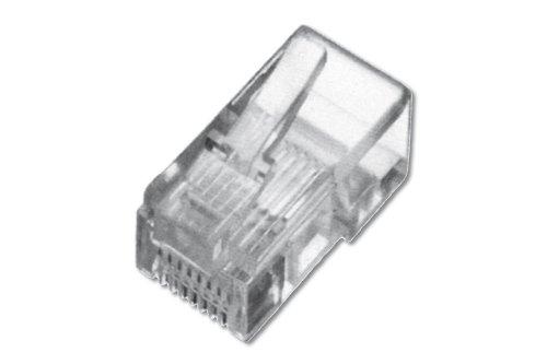 Digitus Link PL616 Connettore Plug Telefonico, 6 Conduttori, 6 Posizioni 6P6C RJ12, Bianco