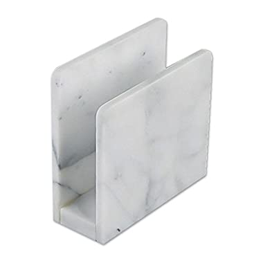 Artisanal Kitchen Supply Marble Napkin Holder in White