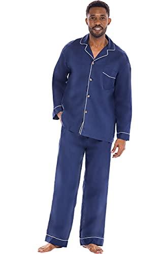 Alexander Del Rossa Men's Pajama Set, Long Button Down...